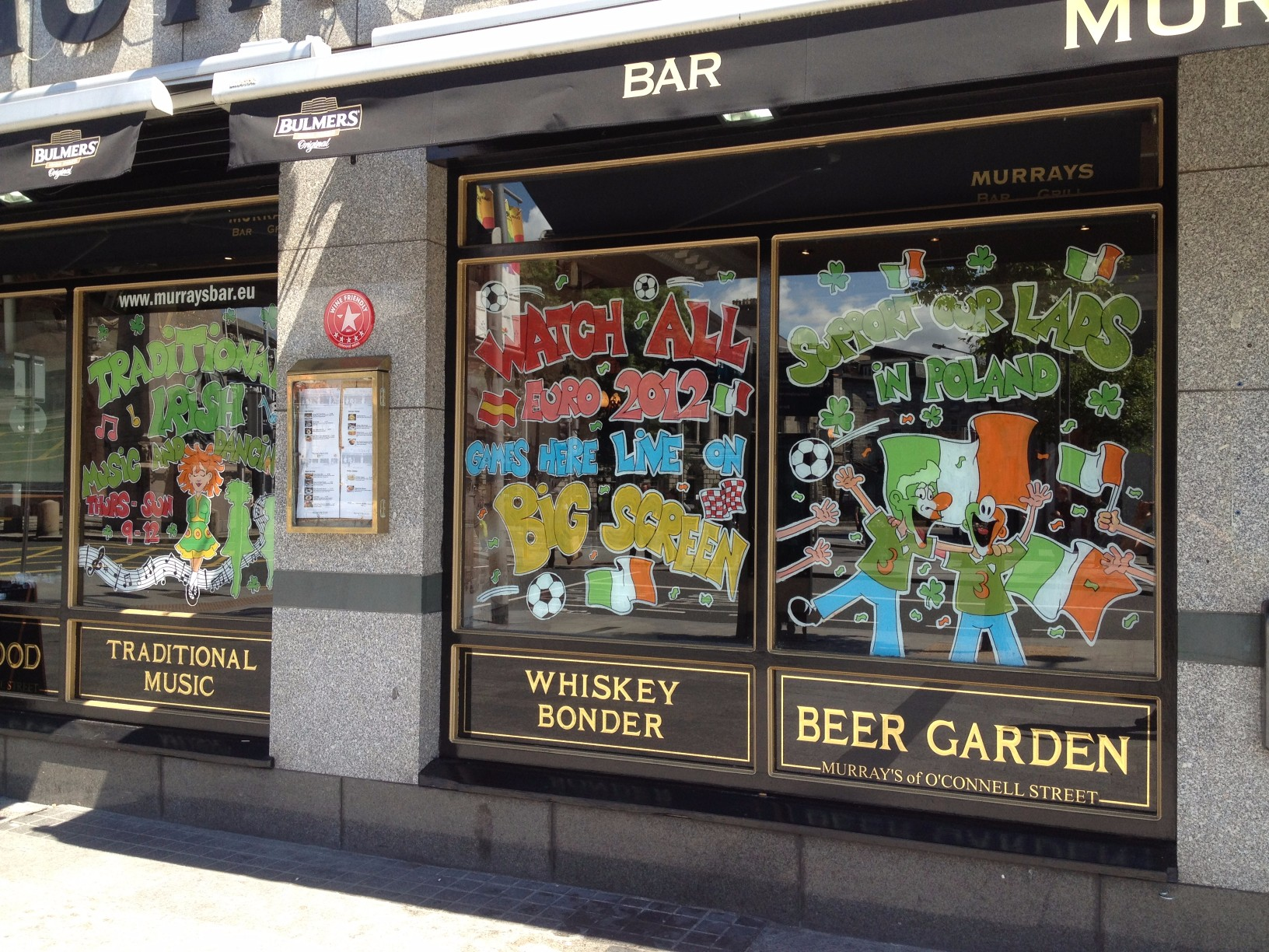World Cup Window Painting